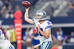 Dallas Cowboys quarterback Dustin Vaughan (10) in action during the pre-season game between the Houston Texans and the Dallas Cowboys at the AT & T stadium in Arlington, Texas.