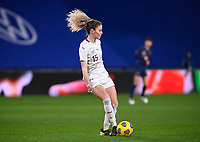Swiss Luana Buhler (15) pictured during the Womens International Friendly game between France and Switzerland at Stade Saint-Symphorien in Longeville-lès-Metz, France.