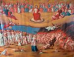 Denmark, Jutland, Møgeltønder: Ceiling frescoe in Møgeltønder Kirke | Daenemark, Juetland, Møgeltønder: Deckenmalerei in der Kirche St. Nikolaus