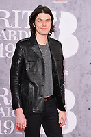 James Bay<br /> arriving for the BRIT Awards 2019 at the O2 Arena, London<br /> <br /> ©Ash Knotek  D3482  20/02/2019<br /> <br /> *images for editorial use only*