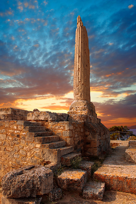 The Greek archaeological site of Ancient Aegina, Kolna, Greek Saronic Islands