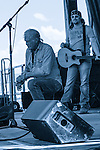 Billy Joe Shaver closes his set on his knee in thanks at the Red Ants Pants Music Festival