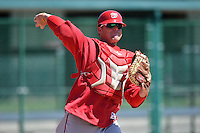 Washington Nationals catcher Craig Manuel during practice before a minor league spring training game against the Atlanta Braves on March 26, 2014 at Wide World of Sports in Orlando, Florida.  (Mike Janes/Four Seam Images)