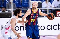 11th April 2021; Palau Blaugrana, Barcelona, Catalonia, Spain; Liga ACB Basketball, Barcelona versus Real Madrid; 99 Calathes  of Barcelona during the Liga Endesa match