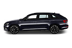 Car Driver side profile view of a 2020 Skoda Superb-Combi Sportline-4wd 5 Door Wagon Side View