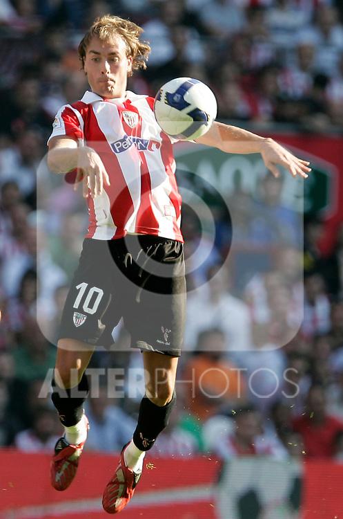 Athletic de Bilbao's Francisco Yeste during La Liga match, September 28, 2008. (ALTERPHOTOS/Alvaro Hernandez)