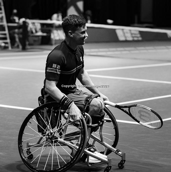 Rotterdam, The Netherlands, 5 march  2021, ABNAMRO World Tennis Tournament, Ahoy,  First round wheelchair: Gordon Reid (GBR). Photo: www.tennisimages.com/
