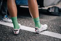 green jersey wearer Marcel Kittel (DEU/QuickStep Floors) in matching socks ahead of the race<br /> <br /> 104th Tour de France 2017<br /> Stage 9 - Nantua › Chambéry (181km)
