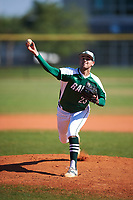 Farmingdale State Rams starting pitcher Joe Guercio (23) delivers a pitch during the second game of a doubleheader against the FDU-Florham Devils on March 15, 2017 at Lake Myrtle Park in Auburndale, Florida.  FDU-Florham defeated Farmingdale 8-4.  (Mike Janes/Four Seam Images)