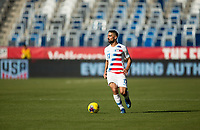 CARSON, CA - FEBRUARY 1: Sebastian Lletget #17 of the United States looks for an open man during a game between Costa Rica and USMNT at Dignity Health Sports Park on February 1, 2020 in Carson, California.