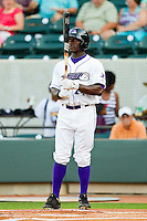 Jared Mitchell #24 of the Winston-Salem Dash steps up to the plate against the Kinston Indians at BB&T Ballpark on June 4, 2011 in Winston-Salem, North Carolina.   Photo by Brian Westerholt / Four Seam Images
