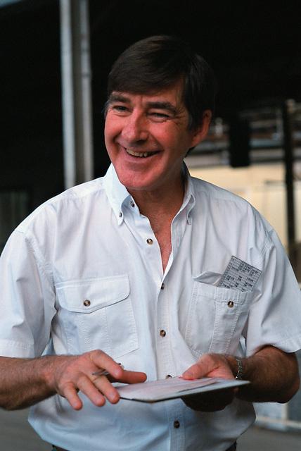 Rob Edgley, Buyer, (BATA) Mareeba Sales Floor, Mareeba, 2003.