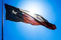 """The Texas Flag Code assigns the following symbolism to the colors of the Texas flag: blue stands for loyalty, white for purity, and red for bravery. The code also states that single (lone) star """"represents ALL of Texas and stands for our unity as one for God, State, and Country."""""""
