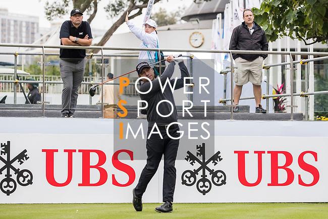 Terry Pilkadaris of Australia tees off during the day four of UBS Hong Kong Open 2017 at the Hong Kong Golf Club on 26 November 2017, in Hong Kong, Hong Kong. Photo by Yu Chun Christopher Wong / Power Sport Images