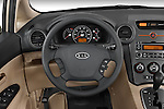 Steering wheel view of a 2008 Kia Rondo EX V6