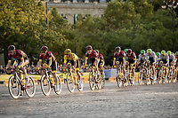 Team Ineos escorting yellow jersey / Tour winner Egan Bernal (COL/Ineos) safely over the Champs-Elysées<br /> <br /> Stage 21: Rambouillet to Paris (128km)<br /> 106th Tour de France 2019 (2.UWT)<br /> <br /> ©kramon