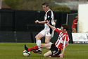 21/04/2007       Copyright Pic: James Stewart.File Name : sct_jspa30_gretna_v_clyde.RUARI MACLENNAN CHALLENGES ALLAN JENKINS.....James Stewart Photo Agency 19 Carronlea Drive, Falkirk. FK2 8DN      Vat Reg No. 607 6932 25.Office     : +44 (0)1324 570906     .Mobile   : +44 (0)7721 416997.Fax         : +44 (0)1324 570906.E-mail  :  jim@jspa.co.uk.If you require further information then contact Jim Stewart on any of the numbers above.........