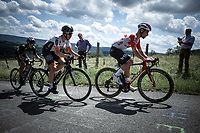 Victor Campenaerts (BEL/Lotto Soudal) leads the early break away group up the infamous La Redoute. <br /> <br /> Baloise Belgium Tour 2019<br /> Stage 4: Seraing – Seraing 151.1km<br /> ©kramon