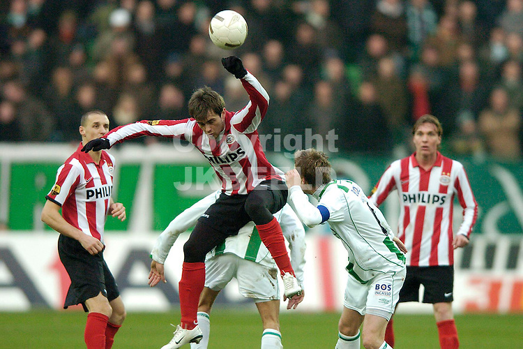 fc groningen -psv eredivisie seizoen 2007-2008 26-12- 2007 lazovic kopt.  *** Local Caption ***