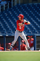 Washington Nationals Jackson Cluff (6) at bat during an Instructional League game against the Miami Marlins on September 26, 2019 at FITTEAM Ballpark of The Palm Beaches in Palm Beach, Florida.  (Mike Janes/Four Seam Images)