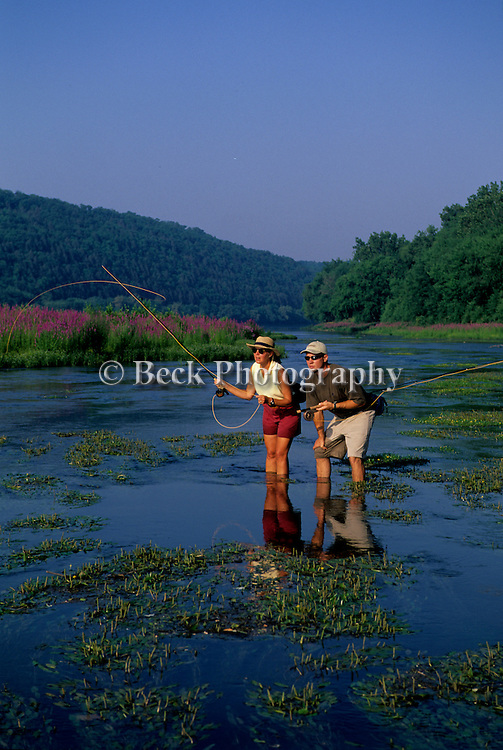 Fly fishing on the Susquehanna River, PA