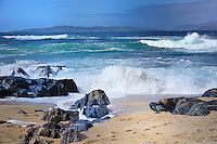 """SC -OUTER HEBRIDES - SOUTH HARRIS<br /> Heavy storm and crashing surf at Cladach a'Ghobha """"The shore of the blacksmith"""" near Sgarasta Mhòr<br /> <br /> Full size: 69,2 MB"""