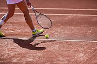 August 24, 2014, Netherlands, Amstelveen, De Kegel, National Veterans Championships, shadow<br /> Photo: Tennisimages/Henk Koster