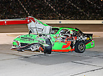 Mark Martin, driver of the (5) GoDaddy.com Chevrolet, gets towed in after wrecking his car during the Samsung Mobile 500 Sprint Cup race at Texas Motor Speedway in Fort Worth,Texas.