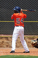 GCL Astros outfielder Daz Cameron (54) at bat during a game against the GCL Braves on July 23, 2015 at the Osceola County Stadium Complex in Kissimmee, Florida.  GCL Braves defeated GCL Astros 4-2.  (Mike Janes/Four Seam Images)