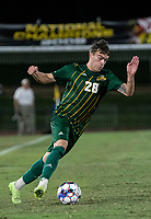 COLLEGE PARK, MD - SEPTEMBER 3: George Mason University forward Miles Montgomery (28) on the attack during a game between George Mason University and University of Maryland at Ludwig Field on September 3, 2021 in College Park, Maryland.