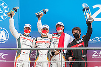 #28 JOTA Oreca 07 - Gibson LMP2, Sean Gelael, Stoffel Vandoorne, Tom Blomqvist, 24 Hours of Le Mans , Podium, Circuit des 24 Heures, Le Mans, Pays da Loire, France