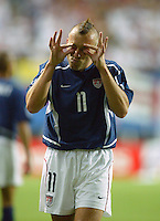 Clint Mathis thinks the referee may need glasses. The USA lost 3-1 against Poland in the FIFA World Cup 2002 in Korea on June 14, 2002.