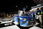 Monster Energy NASCAR Cup Series<br /> Go Bowling 400<br /> Kansas Speedway, Kansas City, KS USA<br /> Saturday 13 May 2017<br /> Martin Truex Jr, Furniture Row Racing, Auto-Owners Insurance Toyota Camry celebration<br /> World Copyright: Barry Cantrell<br /> LAT Images<br /> ref: Digital Image 17KAN1bc4833