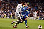 Real Madrid's Raphael Varane and Celta de Vigo's Pablo Hernandez during Copa del Rey match between Real Madrid and Celta de Vigo at Santiago Bernabeu Stadium in Madrid, Spain. January 18, 2017. (ALTERPHOTOS/BorjaB.Hojas)