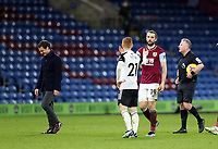 17th February 2021; Turf Moor, Burnley, Lanchashire, England; English Premier League Football, Burnley versus Fulham; Harrison Reed of Fulham shakes hands with Jay Rodriguez of Burnley after the match ends in a 1-1 draw