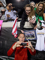 USWNT fans, Christie Rampone.  The USWNT defeated Scotland, 4-1, during a friendly at EverBank Field in Jacksonville, Florida.