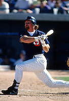Rob Deer of the San Diego Padres at Peoria Sports Complex in Peoria,Arizona during 1996 Spring Training. (Larry Goren/Four Seam Images)
