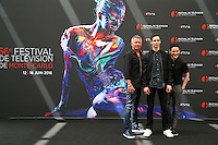 FESTIVAL TELEVISION DE MONTE CARLO - PHOTOCALL 'GOTHAM' AVEC SEAN PERTWEE, CORY MICHAEL SMITH, ROBIN LORD TAYLOR