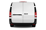 Straight rear view of 2020 Mercedes Benz eVito Base 4 Door Cargo Van Rear View  stock images