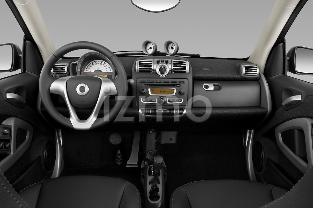 Straight dashboard view of a 2009 SmartForTwo Cabriolet.