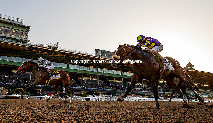 March 06, 2021: Idol and Joel Rosario defeats Express Train and Juan Hernandez to win the Santa Anita Handicap at Santa Anita Park in Arcadia, California on March 06, 2021. Evers/Eclipse Sportswire/CSM