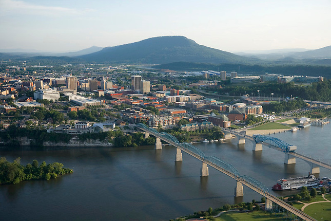 Chattanooga bridges on Tennessee River
