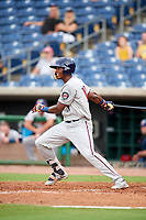 Fort Myers Miracle first baseman Lewin Diaz (11) at bat during a game against the Clearwater Threshers on May 31, 2018 at Spectrum Field in Clearwater, Florida.  Clearwater defeated Fort Myers 5-1.  (Mike Janes/Four Seam Images)