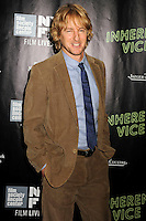 NEW YORK CITY, NY, USA - OCTOBER 04: Owen Wilson arrives at the 52nd New York Film Festival - 'Inherent Vice' Centerpiece Gala Presentation & World Premiere held at Alice Tully Hall on October 4, 2014 in New York City, New York, United States. (Photo by Celebrity Monitor)