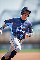 West Michigan Whitecaps second baseman Kody Clemens (21) runs the bases during a game against the Quad Cities River Bandits on July 23, 2018 at Modern Woodmen Park in Davenport, Iowa.  Quad Cities defeated West Michigan 7-4.  (Mike Janes/Four Seam Images)