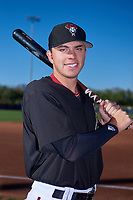 AZL D-backs infielder Angelo Altavilla (10) poses for a photo before an Arizona League game against the AZL Angels on July 20, 2019 at Salt River Fields at Talking Stick in Scottsdale, Arizona. The AZL Angels defeated the AZL D-backs 11-4. (Zachary Lucy/Four Seam Images)