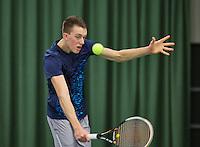 Rotterdam, Netherlands, Januari 24, 2016,  ABNAMROWTT Supermatch, Nigel Visser (NED)<br /> Photo: Tennisimages/Henk Koster