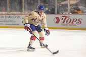 Rochester Amerks winger Tim Schaller (11) during the first period of The Frozen Frontier outdoor AHL game against the Lake Erie Monsters at Frontier Field on December 13, 2013 in Rochester, New York.  (Copyright Mike Janes Photography)