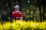 Ha-Na Jang of Korea lines up a putt during the Hyundai China Ladies Open 2014 at World Cup Course in Mission Hills Shenzhen on December 13 2014, in Shenzhen, China. Photo by Xaume Olleros / Power Sport Images