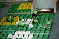ARMENIA-COLOMBIA, 21-09-2020: Deportes Quindio y Real San Andres, durante partido por la fecha 8 del Torneo BetPlay DIMAYOR I 2020 en el estadio Centenario de la ciudad de Armenia. / Deportes Quindio and Real San Andres, during a match for the 8th date of the BetPlay DIMAYOR I 2020 tournament at the Centenario stadium in Armenia city. / Photos: VizzorImage / Ricardo Vejarano / Cont.